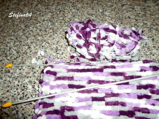 Sciarpa con la lana pon pon 5