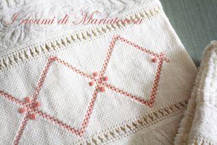 Coppia di asciugamani punto gigliuccio, quadro, vapore_2