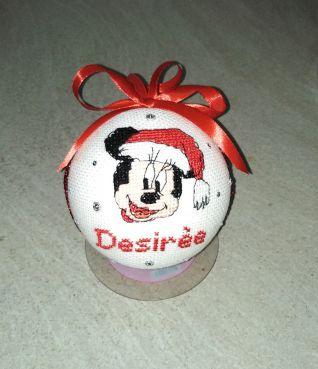 Pallina di Natale con minnie x Desirée
