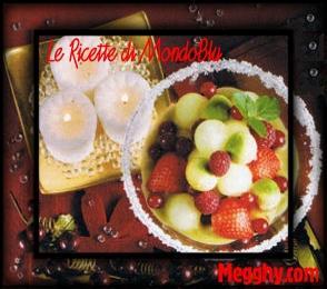 Cocktail di melone invernale e frutti rossi