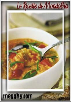 Zuppa di pomodori, riso e dragoncello