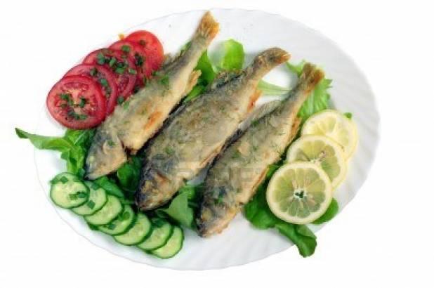 Pesce marinato con verdure