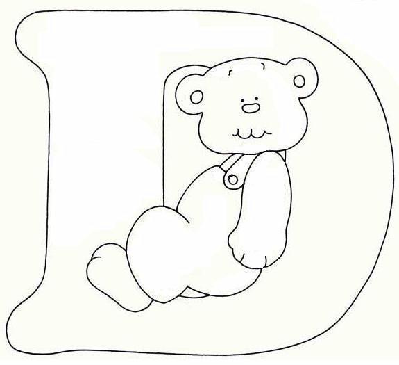 Disegno Alfabeto Con Orso 4