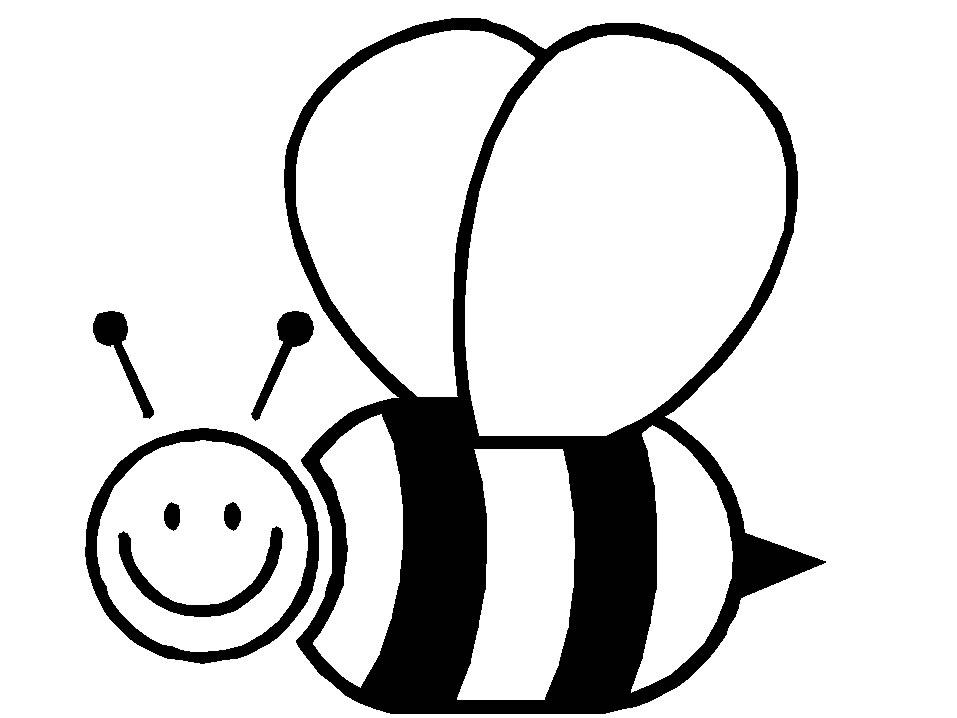 Раскраски пчёлок для детей