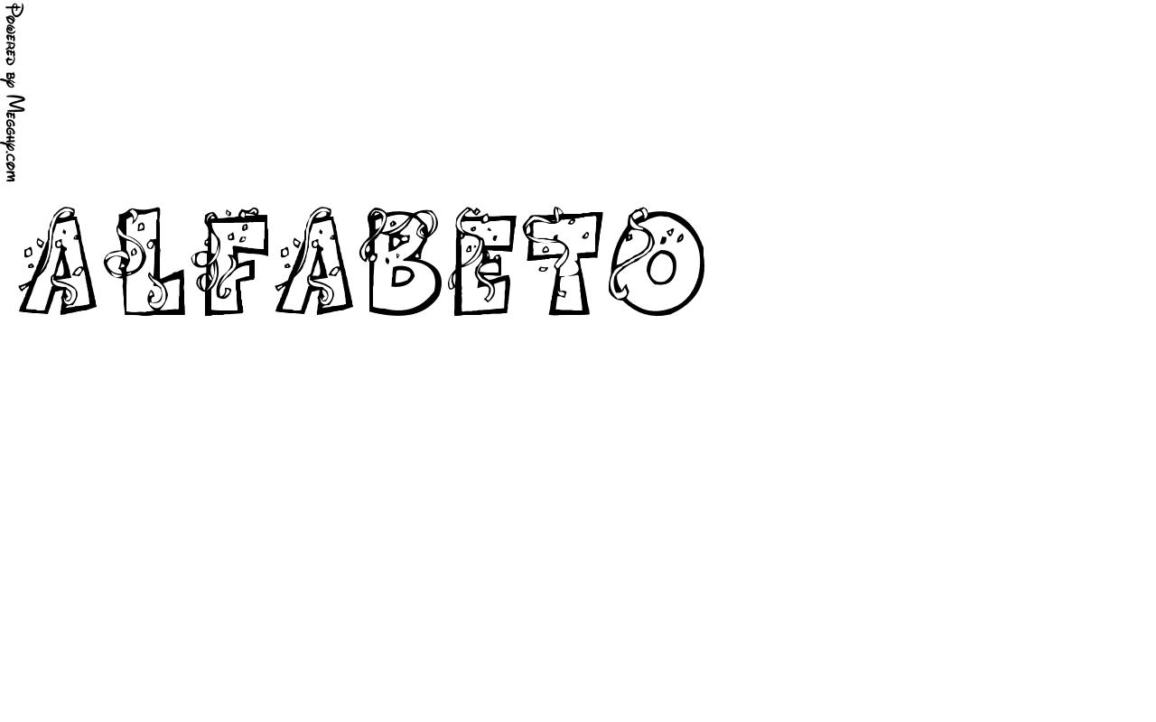 Favorito Disegno per bambini alfabeto 19503 da stampare e colorare XW29