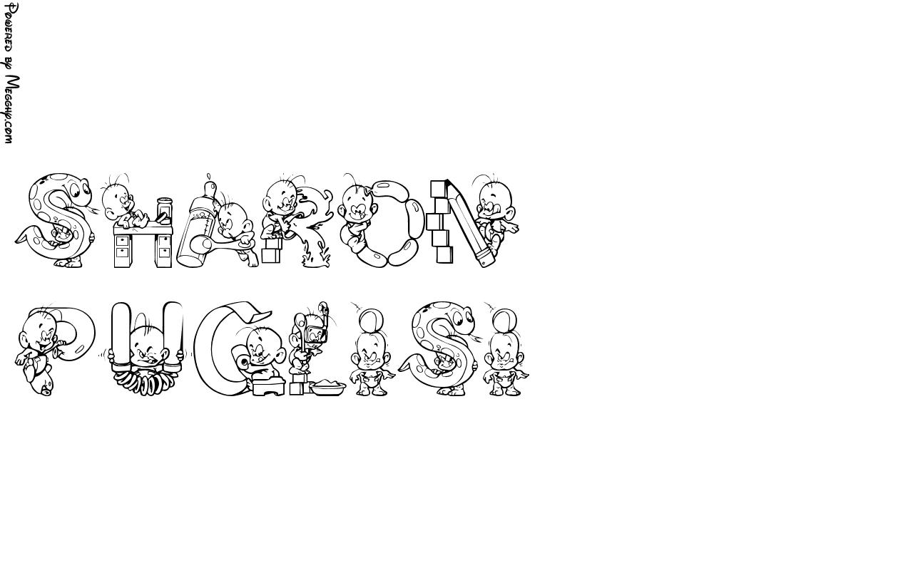 Disegno per bambini sharon da stampare e colorare