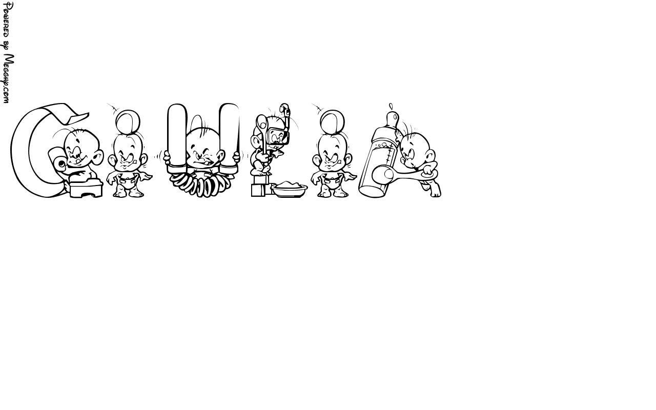 Disegno per bambini giulia da stampare e colorare