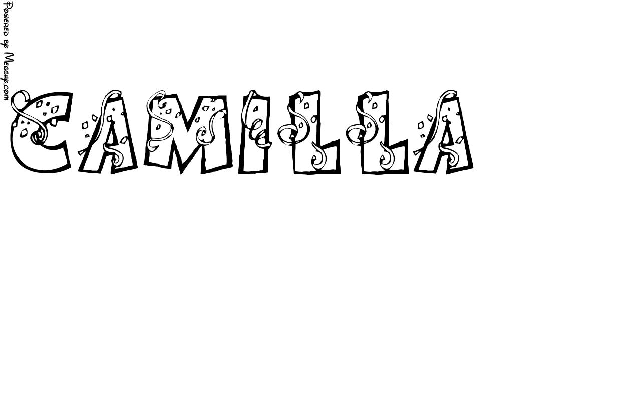 Disegno per bambini camilla da stampare e colorare