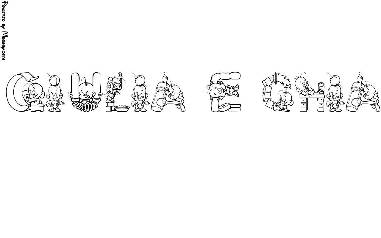 Disegno per bambini giulia e chiara da stampare