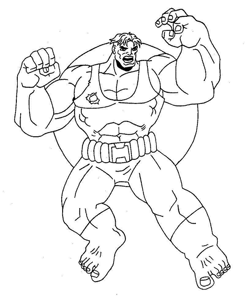 Disegno Hulk 3