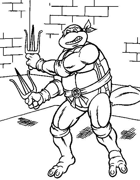 Disegno Tartarughe Ninja 2