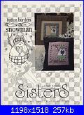 Sisters & Best Friends - schemi e link-sister-best-friends-button-borders-snowman-jpg