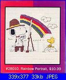 Leisure Arts - schemi e link-la-028010-peanuts-rainbow-portrait-%3D-jcs-28010-jpg
