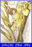 DMC - The Flower Fairies (Cicely Mary Barker) - schemi e link-dmc-k4569-iris-fairy-jpg