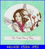 DMC - The Flower Fairies (Cicely Mary Barker) - schemi e link-dmc-k4551-wild-cherry-fairy-jpg