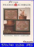 The Prairie Schooler - schemi e link-prairie-schooler-5-wedding-birth-samplers-jpg