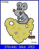 Animali vari* ( VEDI ANIMALI ) - schemi e link-topo-formaggio-2-jpg