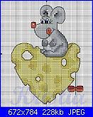 Animali vari* ( VEDI ANIMALI ) - schemi e link-topo-formaggio-1-jpg