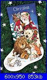 NATALE: I sottoalbero - schemi e link-8566-santas-wildlife-stocking-jpg