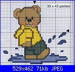 Orsi e orsetti* ( Vedi ANIMALI ) - schemi e link-orsetto-nella-pozzanghera%C2%A7-jpg