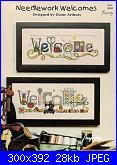 Welcome - Casa dolce casa - Home sweet home*- schemi e link-needlework-welcomes-diane-arthurs-jpg