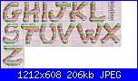 Alfabeti semplici* ( Vedi ALFABETI ) - schemi e link-alfa-righe-vari-colori-2-jpg