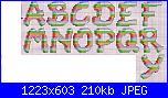 Alfabeti semplici* ( Vedi ALFABETI ) - schemi e link-alfa-righe-vari-colori-1-jpg