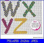 Alfabeti semplici* ( Vedi ALFABETI ) - schemi e link-alfa-multicolore-stampato-miuascolo-4-jpg