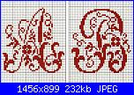 """Alfabeti  """"della nonna """"  ( Vedi ALFABETI ) - schemi e link-alfa-antico-b-jpg"""