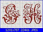 """Alfabeti  """"della nonna """"  ( Vedi ALFABETI ) - schemi e link-alfa-antico-g-h-jpg"""