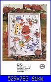 Natale - Il Calendario dell'Avvento - schemi e link-0273-santa-snowman-calendar-jpg