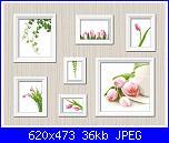 Quadri tripli/ Ricamo Trittico - schemi e link-tulipani-jpg