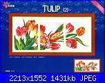 Quadri tripli/ Ricamo Trittico - schemi e link-dome_100823_tulip-jpg