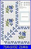 Tovaglie- Tovagliette- schemi e link-fiorellini-azzurri-1-jpg