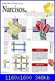 Tovaglie- Tovagliette- schemi e link-tovaglia-tulipani-e-narcisi1-jpg