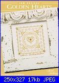 Cuscinetti portafedi* ( Vedi MATRIMONIO ) - schemi e link-jbw-designs-golden-hearts-jpg