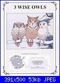 Gufi e Civette - schemi e link-couchaman-creations-3-wise-owls-jpg