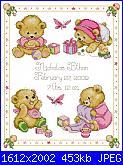 Sampler nascita - schemi e link-design_-works_-t21711_baby_bears_birth_sampler-bambine-jpg