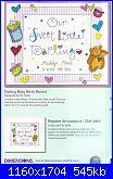 Sampler nascita - schemi e link-dimensions-73511-darling-baby-birth-record-jpg