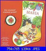 Natale: Le calze- schemi e link-needle-treasures-08550-calico-kittens-stocking-jpg