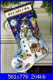 Natale: Le calze- schemi e link-dimensions-70-8839-snowman-friends-stocking-jpg