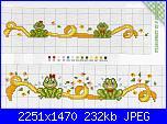 Bordi per bambini (lenzuolini ed altro) schemi e link-ranocchi-1-jpg
