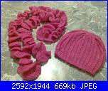 I miei lavori - Meggiemina-sciarpa-rosa-con-cuffia-jpg