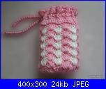 Portacellulari & Co.-portacellulare-tubolare-rosa-bianco-jpg