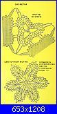Centrini con fiore e foglie-centrino-bicolore-3-jpg