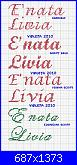 "scritta ""E' nata Livia"" + consiglio x fiocco nascita-%C3%A8-nata-livia-jpg"
