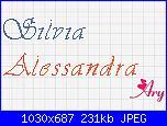 Richiesta Nomi,  Alessandra - Silvia-scritte-gralu-jpg