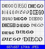 Nome * Diego* per bavaglie d'asilo-diego-maiuscolo-jpg