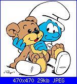 Schema Baby Puffo con orsetto-baby-puffo-jpg