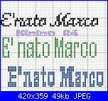 """Richiesta frase """" E' nato Marco"""" in vari font....-nato-marco-jpg"""